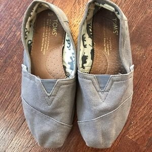 Gray Toms - size six
